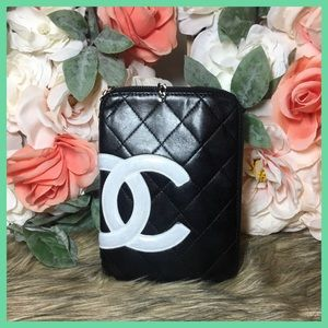 Authentic CHANEL Cambon CC logo Pouch